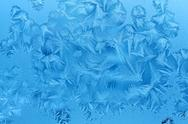 Ice patterns on winter glass Stock Illustration