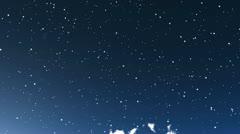 Sky stars meteoroids Stock Footage