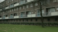 Old flats in Arnhem Stock Footage