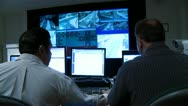 Stock Video Footage of Video Wall Command Center