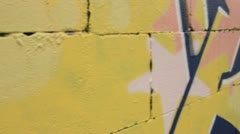 Gaffiti on wall Stock Footage