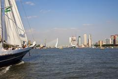 rotterdam, the netherlands - 8 september 2012: view at historical ship and sk - stock photo