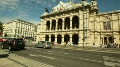 Timelapse in motion of the Vienna Opera house Stock Footage