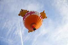 Barneveld, the netherlands - 17 august 2012: colorful bear balloon taking off Stock Photos