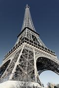 Eiffel tower with special photographic processing Stock Photos
