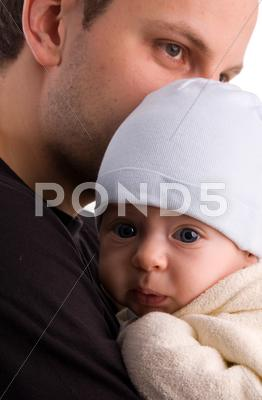 Stock photo of beautiful picture of the daddy with the baby 7