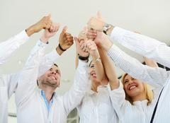 group of businesspeople enjoying business achievement - stock photo