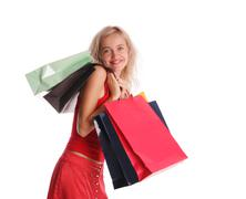 Stock Photo of girl with set of purchases 4