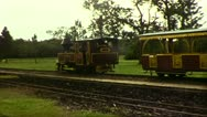 Engine of Balley Hooley Steam Train (1983 8mm Vintage Film Footage) Stock Footage