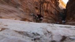 Petra Horse Cart 1 Stock Footage