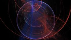 Fractal flame Background high res light streaks Stock Photos
