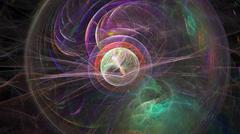 Fractal flame Background abstract light streaks - stock photo
