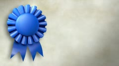 Blue Ribbon Title Background Stock Footage