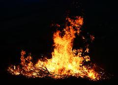 big fire - stock photo
