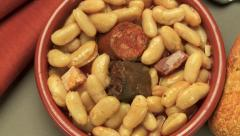 Fabada, Prepared Spanish food Stock Footage