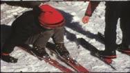 Vintage 8 mm film: Children on ski, 1970s Stock Footage