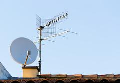 satellite antenna - stock photo