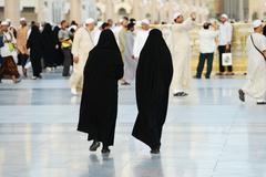 Stock Photo of two muslim women walking