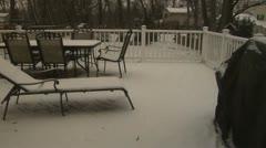 Snowstorm time lapse2 nemo Stock Footage