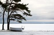 Boat in winter rest Stock Photos