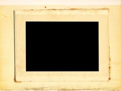 vintage photo album - stock photo
