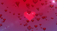 Valentine Hearts Stock Footage