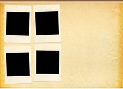 blank photo album - stock illustration