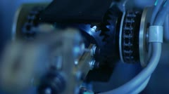 Gears on Robotic Arm Stock Footage