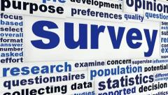 Survey creative words concept Stock Footage