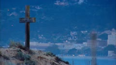 Cross on Beach Stock Footage