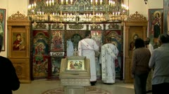 Holy Liturgy Wide Shot Stock Footage