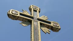 Cross With Crucifixion Stock Footage