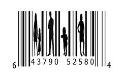 Bar code and people Stock Illustration