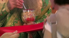 Holy Communion Close Up Stock Footage