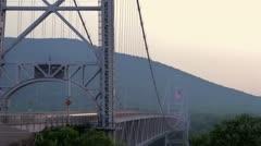 Bear Mountain Bridge Timelapse Stock Footage