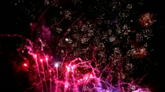 Fireworks pyrotechnic light effect Fun Stock Footage