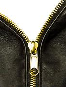 Golden zipper Stock Photos