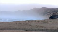 Misty Morning Beach Stock Footage