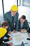 boss and his colleagues - stock photo