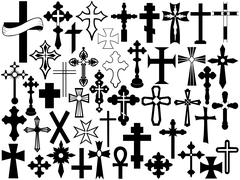 Cross Set Stock Illustration