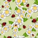 Lucky spring pattern Stock Illustration
