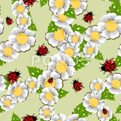 Stock Illustration of lucky spring pattern