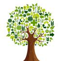 Stock Illustration of go green icons concept tree