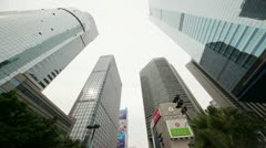 Skyscrapers in business center in Guangzhou, China. Stock Footage