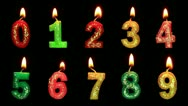 Numbers in the form of candles Stock Footage