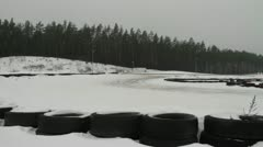 Drifting on the ice Stock Footage