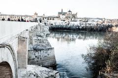 Roman bridge in cordoba Stock Photos