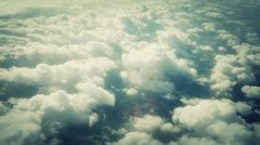 Looking Out From Airplane Window Stock Footage