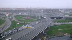 Moscow auto ring road with traffic on daylight. Timelapse Stock Footage