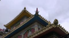 Budhist temple decorations in Dharamsala, India Stock Footage